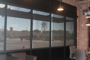 Pixius Communications, LLC - Conference room - motorized solar shades